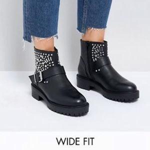 ASOS 7W Studded Moto Boot